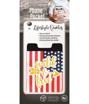 Wild & Free Phone Pocket