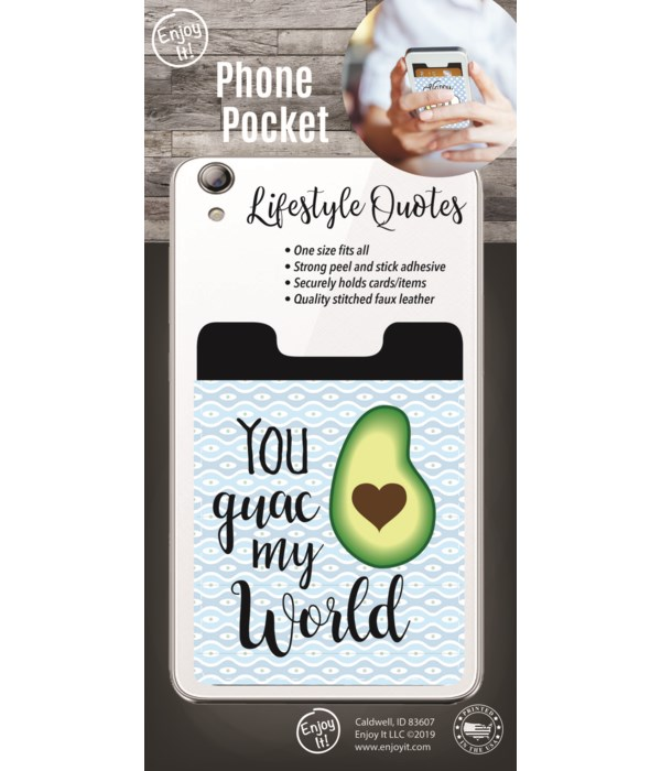 Guac My World Phone Pocket