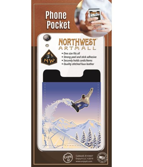 Snowboard Phone Pocket