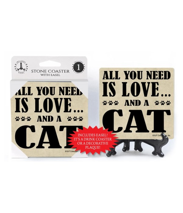 All You Need Is Love And A Cat  coaster
