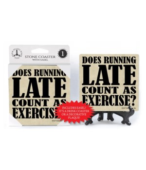 Does running late count as Exercise?  co