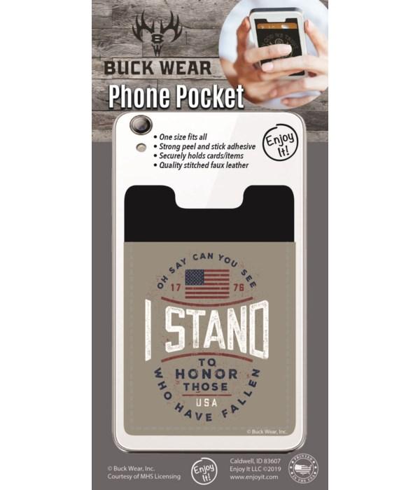 I Stand Phone Pocket