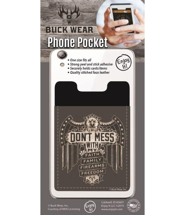 Don't Mess Phone Pocket