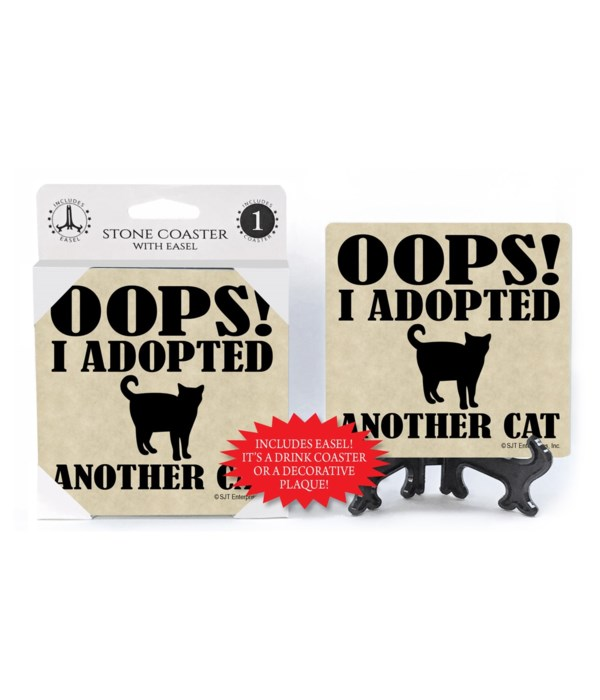 Oops! I adopted another cat  coaster 1-p