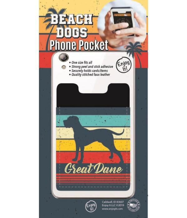 Great Dane Phone Pocket