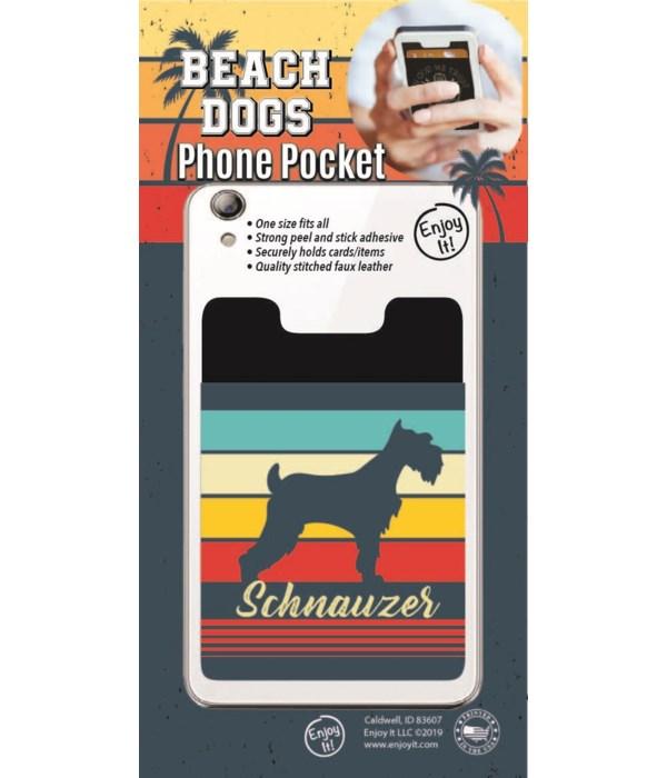 Schnauzer Phone Pocket