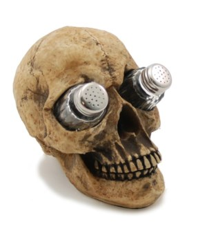 Skull Salt & Pepper Set - 7.25""
