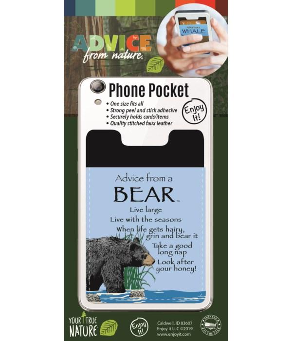 Bear Phone Pocket