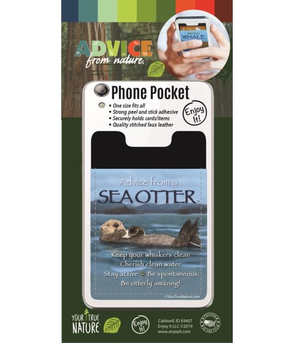 Sea Otter Phone Pocket