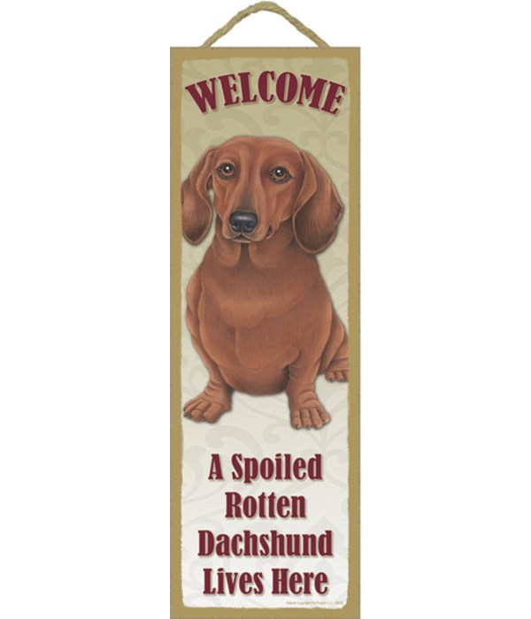 Dachshund (Red) Spoiled 5x15 plaque