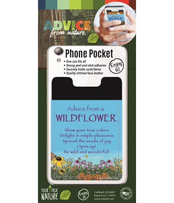 Wild Flower Phone Pocket