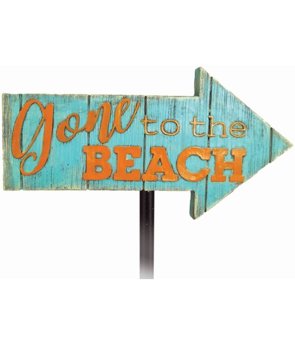 GONE TO THE BEACH GARDEN STAKE