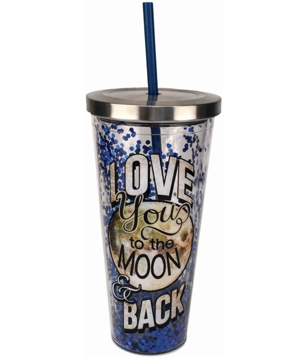 MOON AND BACK GLITTER CUP