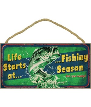 Life starts at Fishing season (fish jump