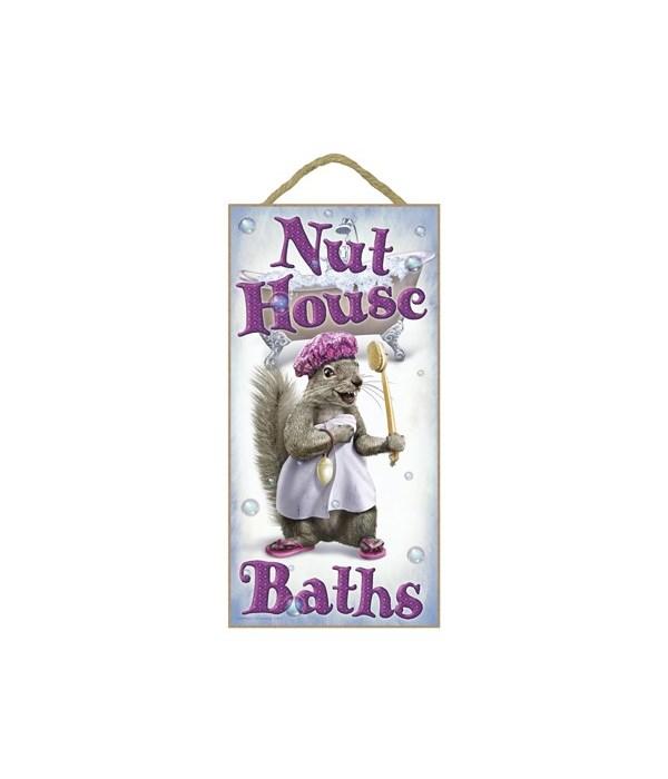 Nut House Baths (squirrel in shower cap
