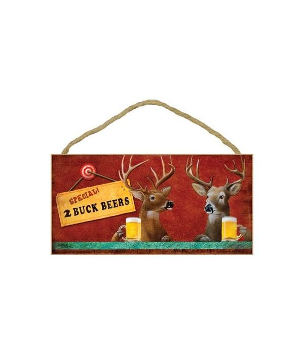 Two Buck Beers (Deer) 5x10