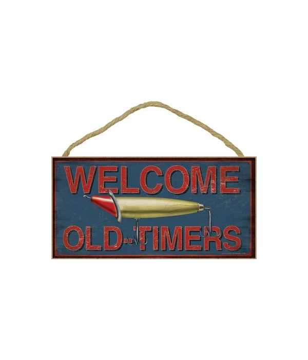 Welcome Old-Timers (fishing lure) 5x10