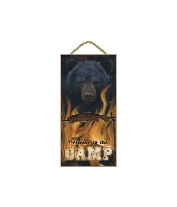 Welcome to the Camp (Bear with fish over