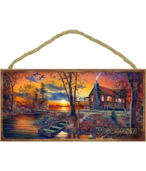 Wisconsin (cabin with boat) 5x10
