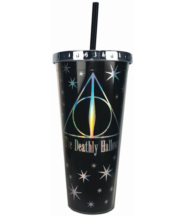 DEATHLY HALLOWS FOIL CUP STRAW