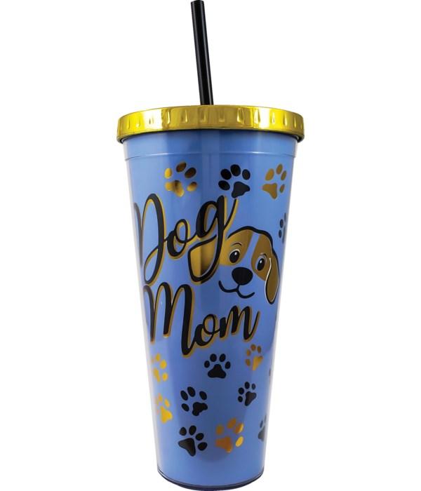 DOG FOIL CUP W/STRAW