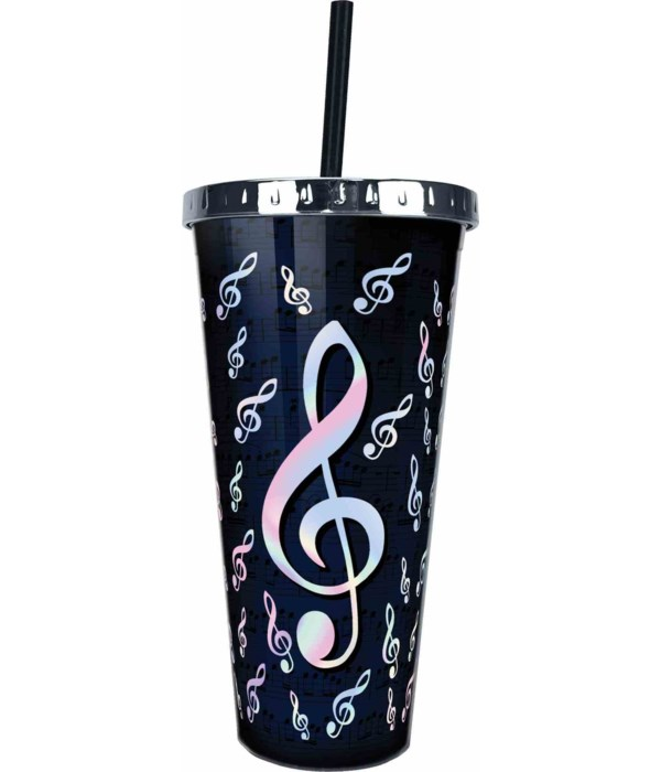 MUSIC FOIL CUP W/STRAW