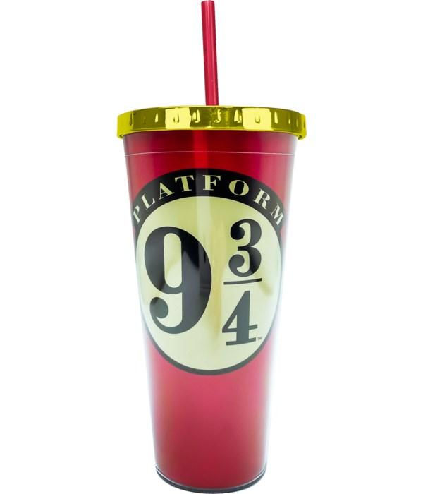 PLATFORM 9-3/4 FOIL CUP W/STRAW