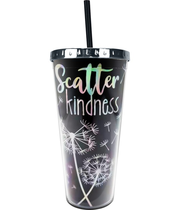 SCATTER KINDNESS FOIL CUP W/STRAW