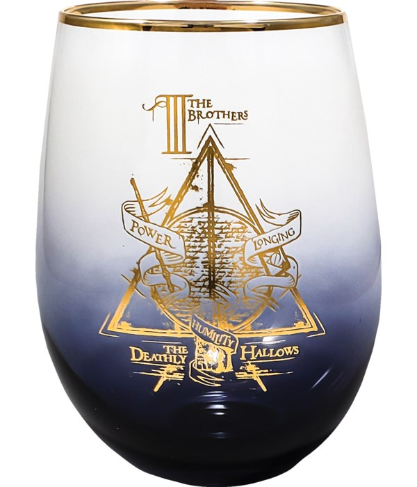 DEATHLY HALLOWS STEMLESS GLASS