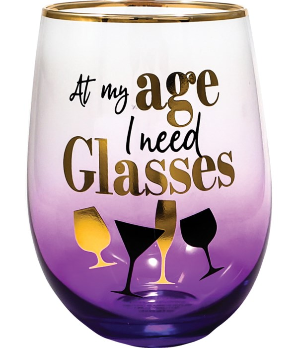 AT MY AGE STEMLESS GLASS