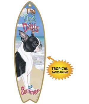 Surfboard with Tropical bkgd -  Boston T