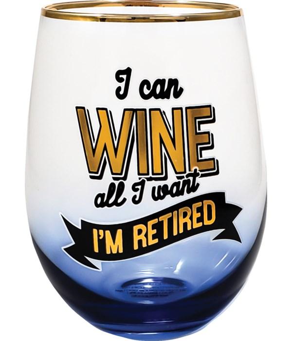 RETIRED STEMLESS GLASS