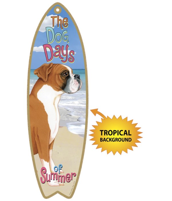 Surfboard with Tropical bkgd -  Boxer (u