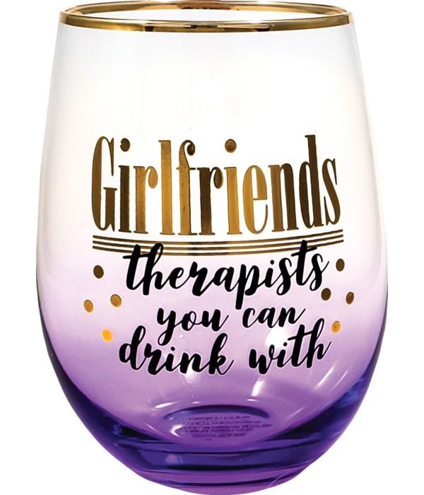 GIRLFRIENDS STEMLESS GLASS