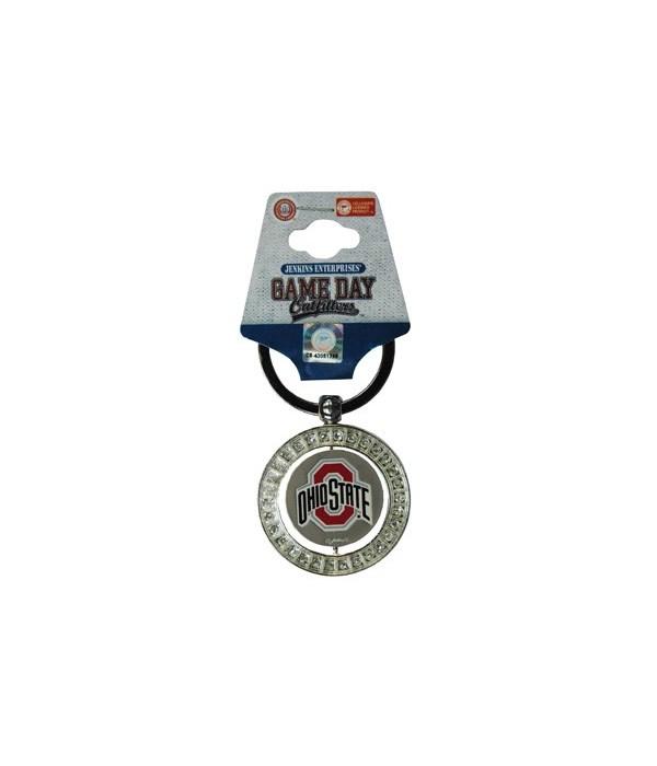 OH-S Keychain Spinner Rhinestones