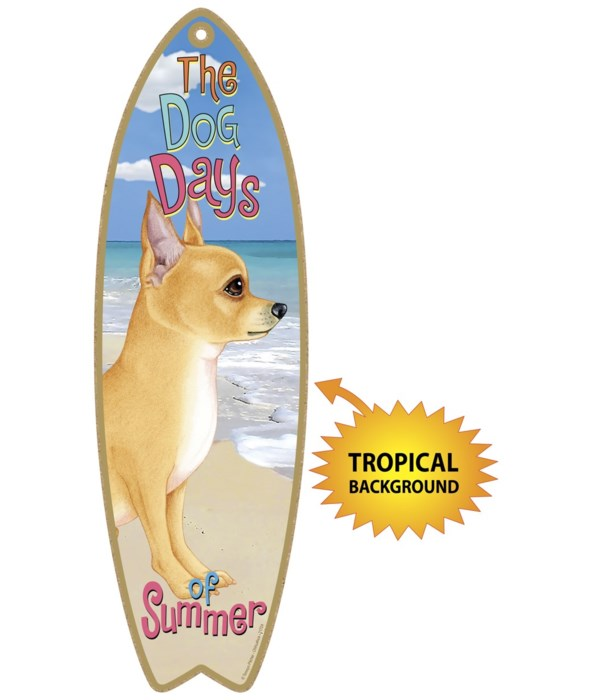 Surfboard with Tropical bkgd -  Chihuahu