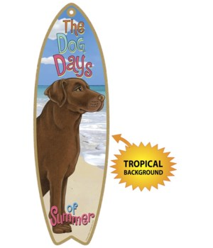 Surfboard with Tropical bkgd -  Chocolat