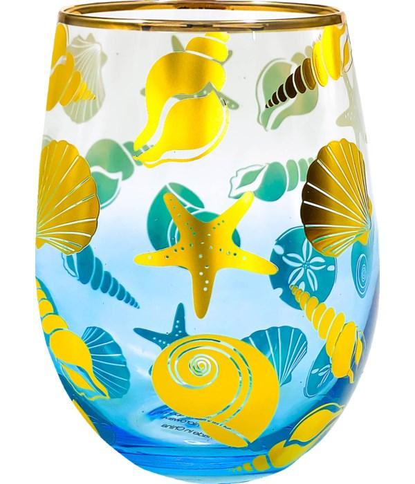 SEASHELLS STEMLESS GLASS