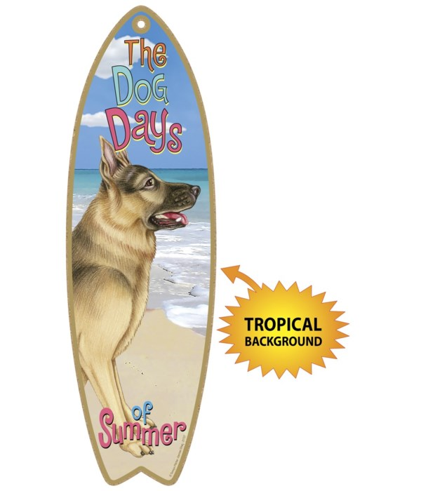 Surfboard with Tropical bkgd -  German S