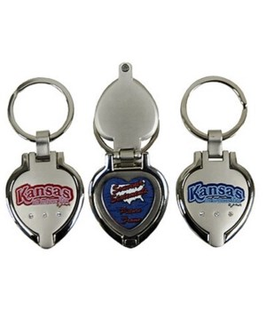 KS Keychain Metal Heart Locket