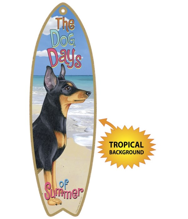 Surfboard with Tropical bkgd -  Miniatur
