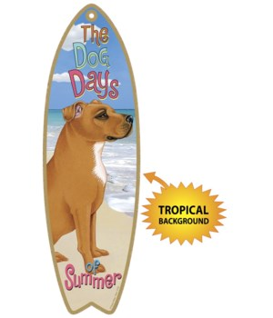 Surfboard with Tropical bkgd -  Pitbull