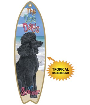 Surfboard with Tropical bkgd -  Poodle (
