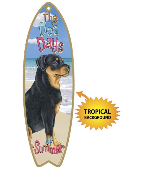Surfboard with Tropical bkgd -  Rottweil