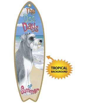 Surfboard with Tropical bkgd -  Schnauze
