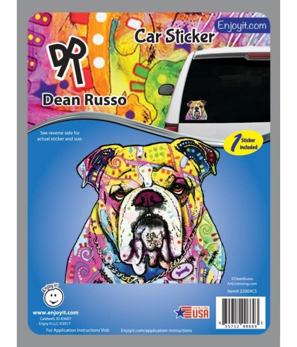 Bulldog Car Sticker