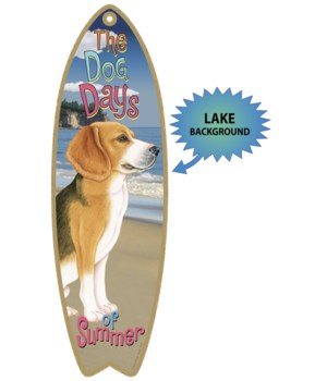 Surfboard with Lake bkgd -  Beagle