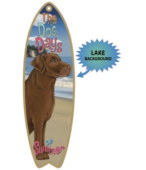 Surfboard with Lake bkgd -  Chocolate La