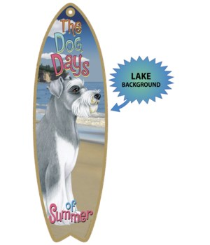 Surfboard with Lake bkgd -  Schnauzer