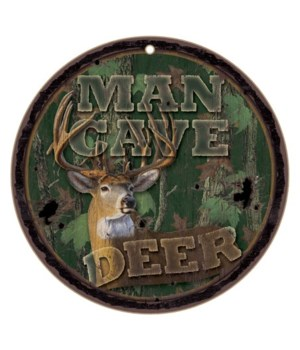 "Man cave deer 10"" D"